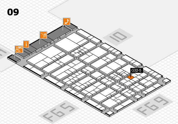 interpack 2017 hall map (Hall 9): stand G32-5