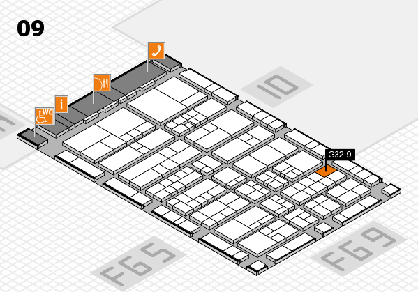 interpack 2017 hall map (Hall 9): stand G32-9