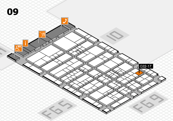 interpack 2017 hall map (Hall 9): stand G32-17