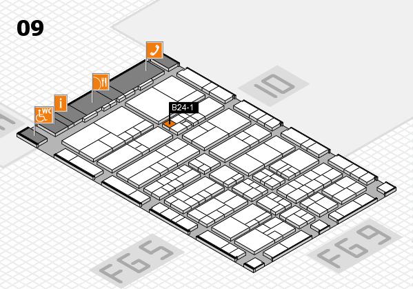 interpack 2017 Hallenplan (Halle 9): Stand B24-1