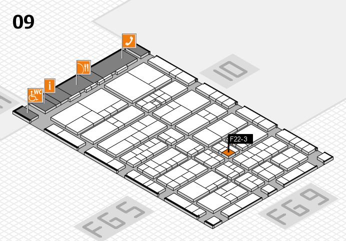 interpack 2017 Hallenplan (Halle 9): Stand F22-3