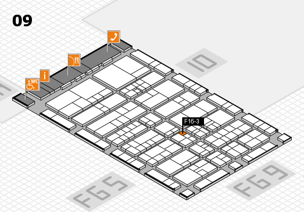 interpack 2017 hall map (Hall 9): stand F16-3