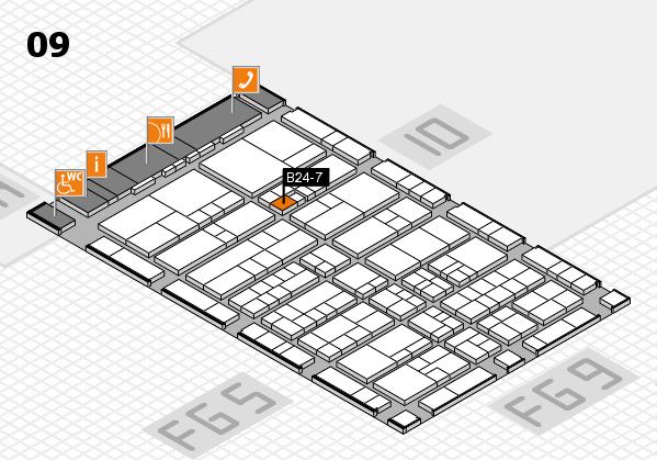 interpack 2017 Hallenplan (Halle 9): Stand B24-7