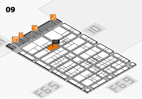 interpack 2017 hall map (Hall 9): stand B20