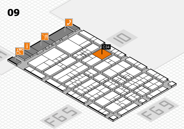 interpack 2017 hall map (Hall 9): stand C34.D31