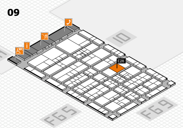 interpack 2017 hall map (Hall 9): stand E28.F27
