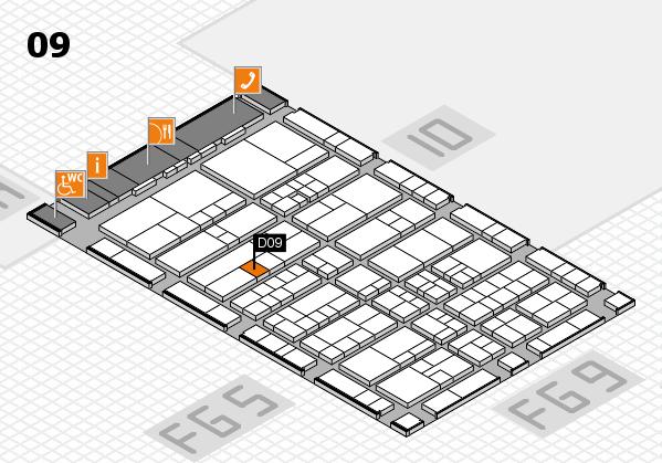 interpack 2017 Hallenplan (Halle 9): Stand D09