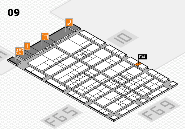 interpack 2017 Hallenplan (Halle 9): Stand F34