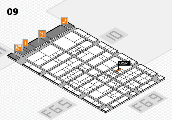 interpack 2017 Hallenplan (Halle 9): Stand G28-1