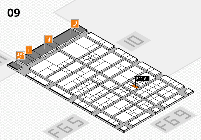 interpack 2017 hall map (Hall 9): stand F22-5