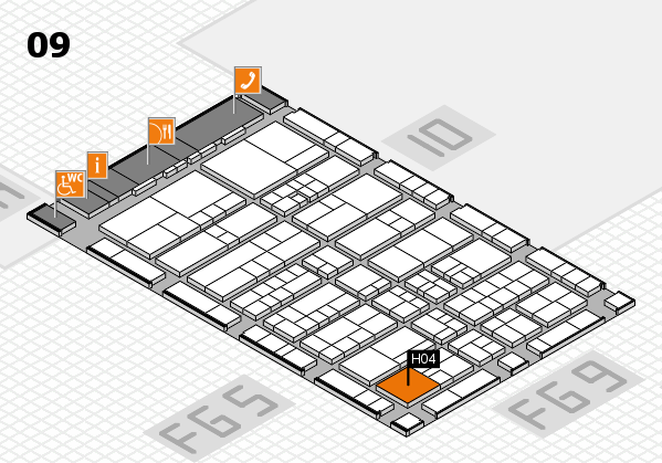 interpack 2017 hall map (Hall 9): stand H04.J03