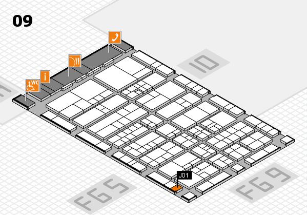 interpack 2017 Hallenplan (Halle 9): Stand J01