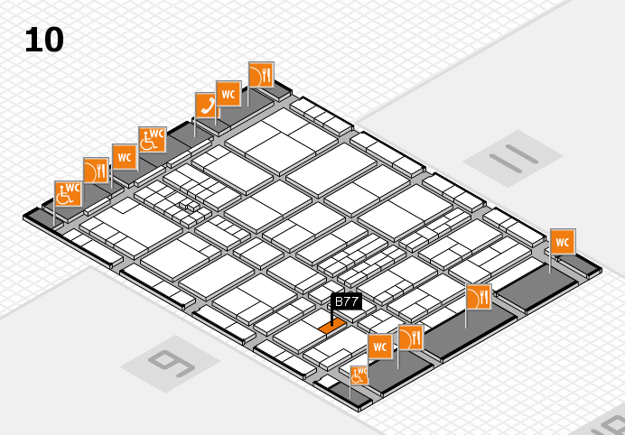 interpack 2017 hall map (Hall 10): stand B77