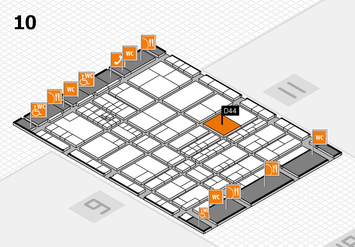 interpack 2017 hall map (Hall 10): stand D44