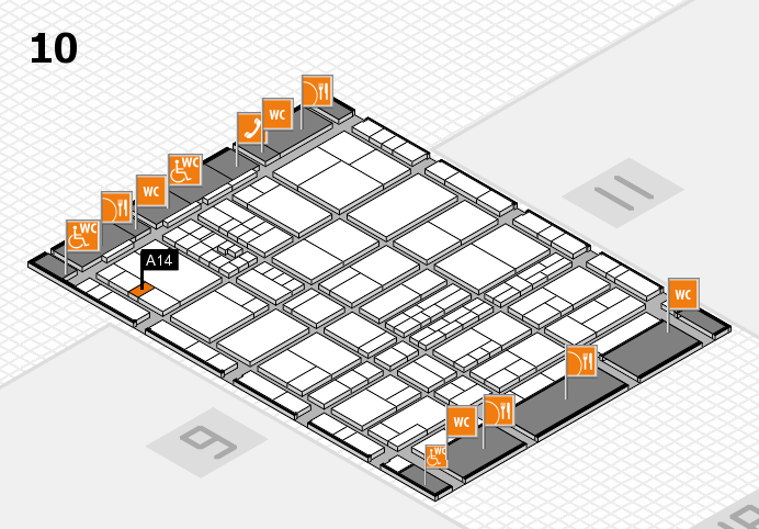 interpack 2017 hall map (Hall 10): stand A14