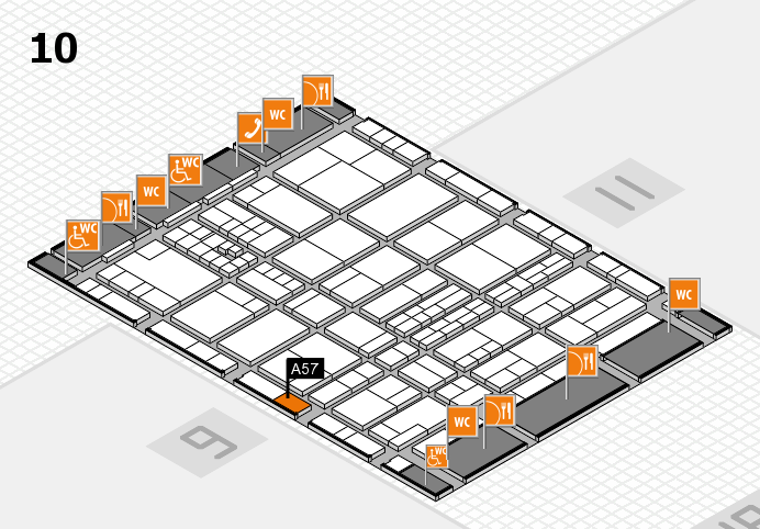 interpack 2017 hall map (Hall 10): stand A57