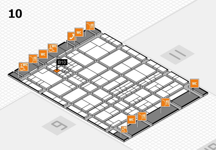 interpack 2017 hall map (Hall 10): stand B10