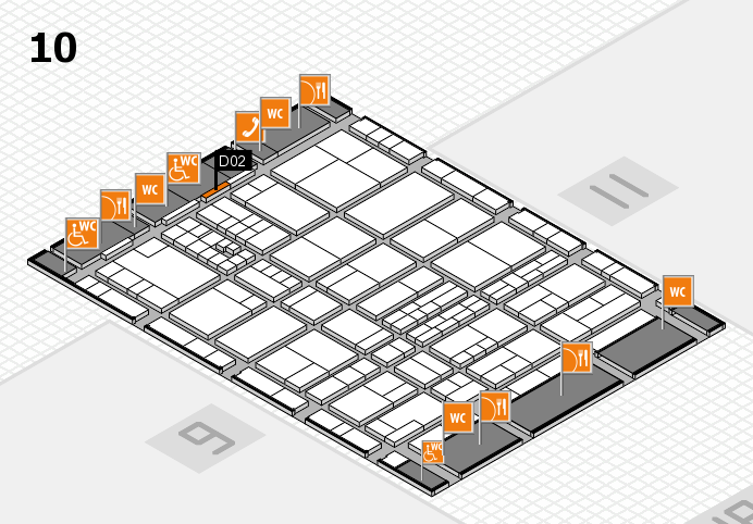 interpack 2017 hall map (Hall 10): stand D02