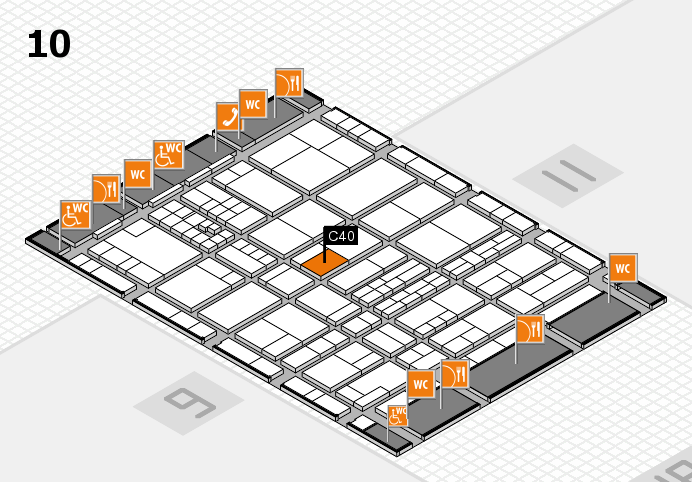 interpack 2017 hall map (Hall 10): stand C40