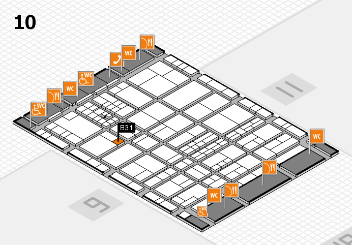 interpack 2017 hall map (Hall 10): stand B31