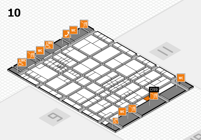 interpack 2017 hall map (Hall 10): stand D99