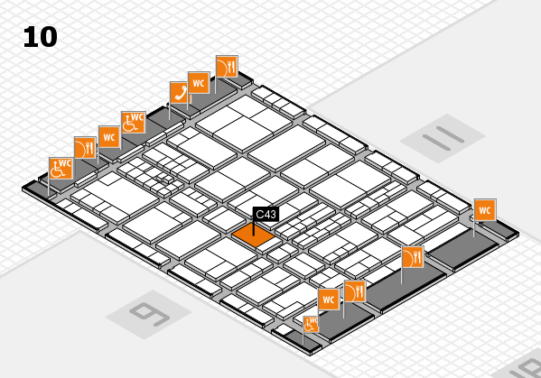 interpack 2017 hall map (Hall 10): stand C43