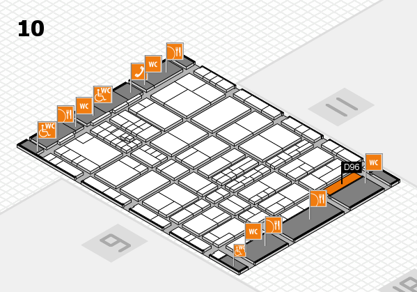 interpack 2017 hall map (Hall 10): stand D96.E97