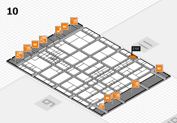 interpack 2017 hall map (Hall 10): stand E66