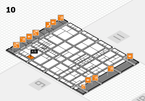 interpack 2017 hall map (Hall 10): stand A18