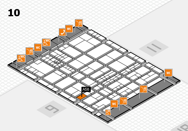 interpack 2017 hall map (Hall 10): stand A58