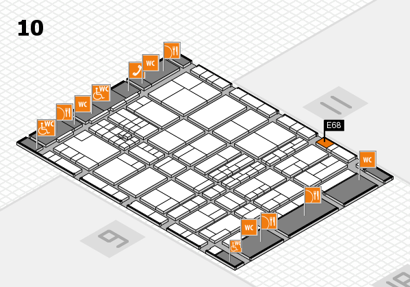 interpack 2017 hall map (Hall 10): stand E68