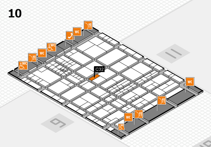 interpack 2017 hall map (Hall 10): stand C32