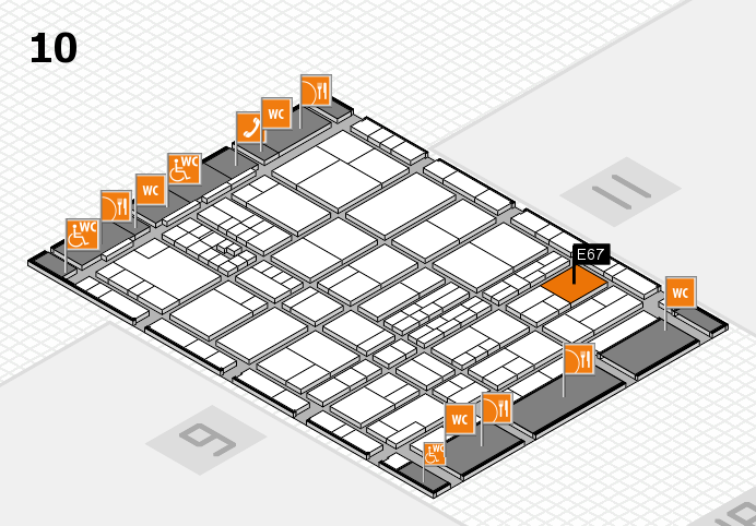 interpack 2017 hall map (Hall 10): stand E67