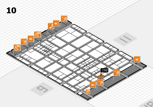 interpack 2017 hall map (Hall 10): stand C92