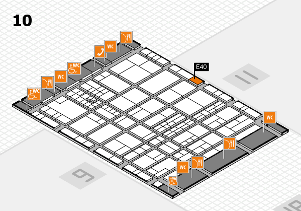 interpack 2017 hall map (Hall 10): stand E40