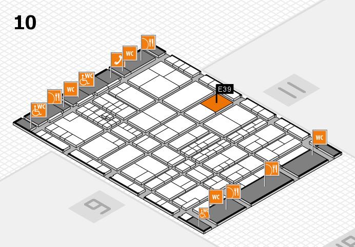 interpack 2017 Hallenplan (Halle 10): Stand E39