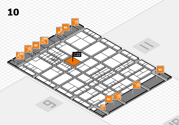 interpack 2017 hall map (Hall 10): stand C22