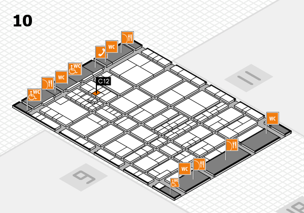 interpack 2017 hall map (Hall 10): stand C12