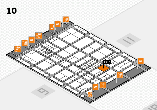 interpack 2017 hall map (Hall 10): stand D67