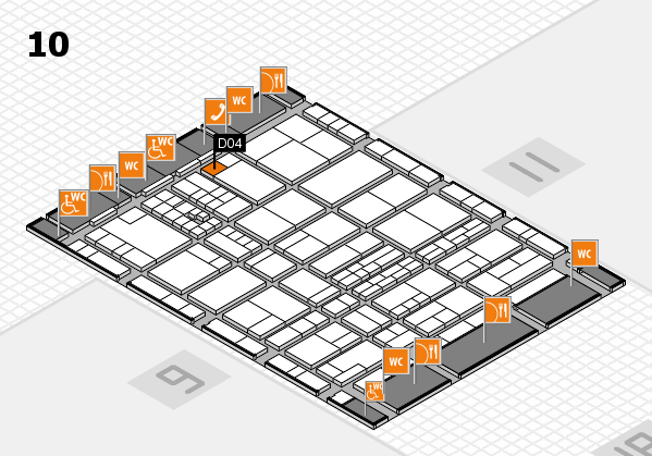 interpack 2017 hall map (Hall 10): stand D04