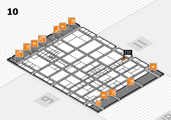 interpack 2017 hall map (Hall 10): stand E55