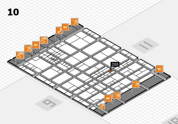 interpack 2017 hall map (Hall 10): stand D55