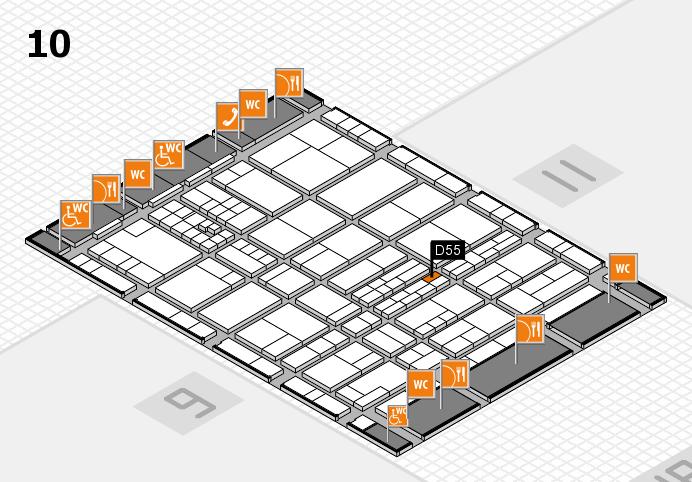 interpack 2017 Hallenplan (Halle 10): Stand D55