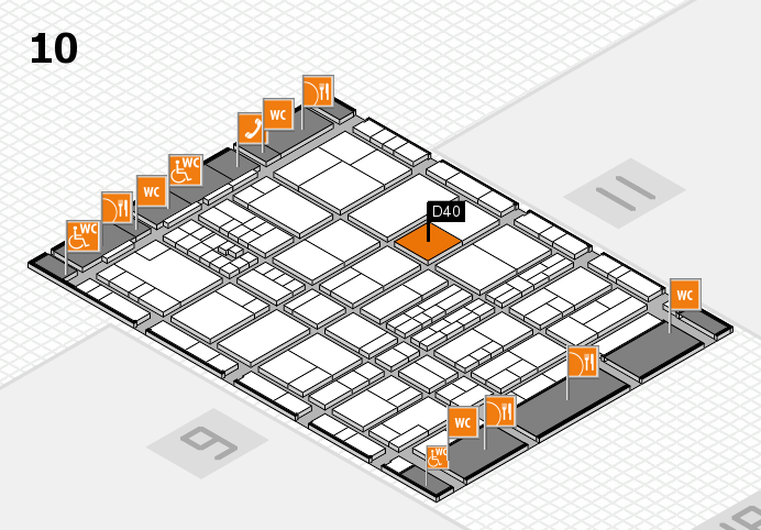 interpack 2017 hall map (Hall 10): stand D40
