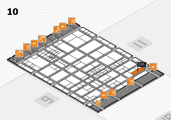 interpack 2017 Hallenplan (Halle 10): Stand E85