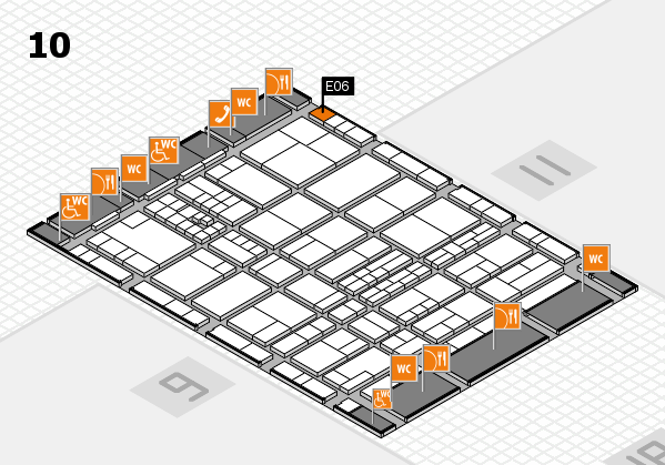 interpack 2017 hall map (Hall 10): stand E06