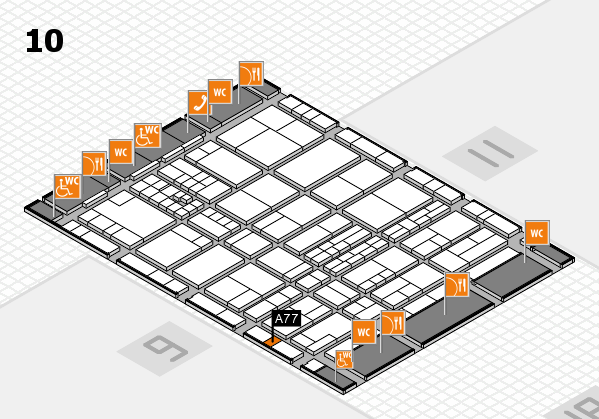 interpack 2017 hall map (Hall 10): stand A77