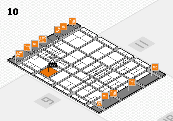 interpack 2017 hall map (Hall 10): stand A22