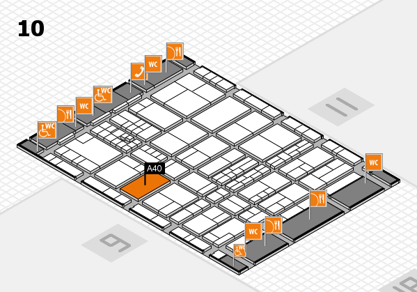 interpack 2017 hall map (Hall 10): stand A40.B39