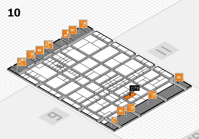 interpack 2017 hall map (Hall 10): stand C78